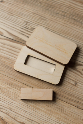 Set No.03 - USB Stick + Holzbox -