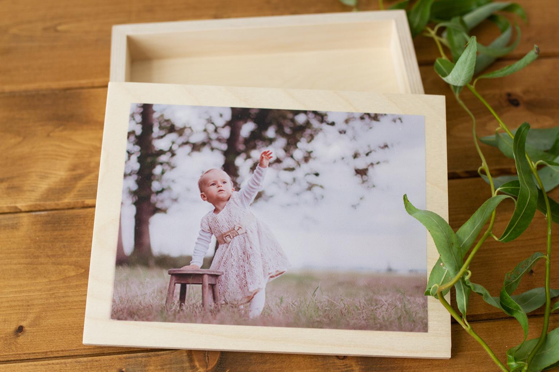 Kreativladen Holzwurm - Holzbox No.18 mit Foto/Rahmen